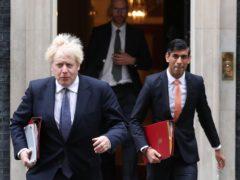 Prime Minister Boris Johnson and Chancellor of the Exchequer Rishi Sunak (PA)