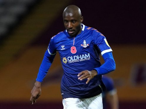 Oldham's Dylan Bahamboula is away on international duty with Congo (Zac Goodwin/PA)