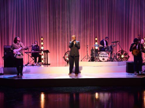 Mercury Prize winner Arlo Parks on stage (Matt Crossick/PA)