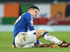 James Rodriguez left Everton during the week (Oli Scarff/PA)