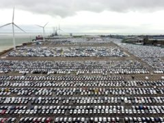 A view of new cars on the quayside in Sheerness, Kent, The automotive industry has downgraded its expectations for the year following the worst February for car sales since 1959. Just 1.83 million new cars will be registered in the UK in 2021, according to the latest prediction from the Society of Motor Manufacturers and Traders (SMMT). Picture date: Thursday March 4, 2021.
