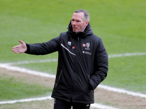 Lincoln manager Michael Appleton (Richard Sellers/PA)