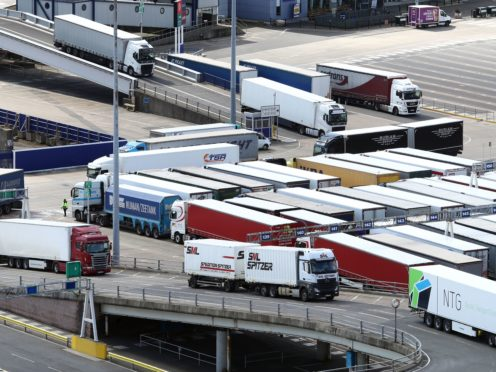 A shortage of lorry drivers is one of the issues that has hit the UK's supply chain (PA)