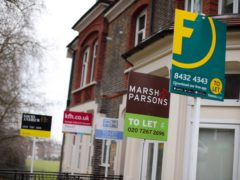 The increase means renters face paying nearly £500 more per year than they did a year ago (Yui Mok/PA)