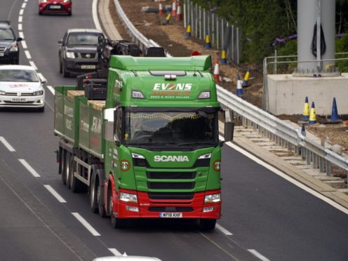 Supply chain shortages have been hitting the economy in recent weeks (Steve Parsons/PA)
