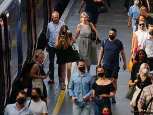 Figures show demand for rail travel has reached two-thirds of normal levels for the first time during the pandemic (PA)