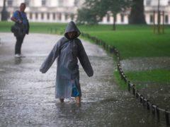 London has experienced heavy rainfall (Victoria Jones/PA)