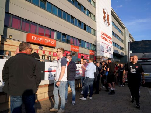 Fans of Leyton Orient and clubs in the fourth and fifth tiers could soon be able to enjoy an alcoholic drink in their seat (Jonathan Brady/PA)