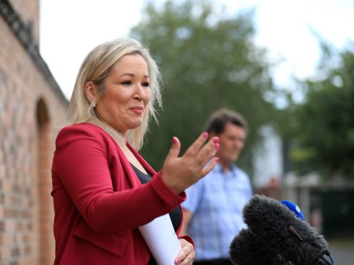 Michelle O'Neill said she planned to visit a hospital to talk to staff (Peter Morrison/PA)