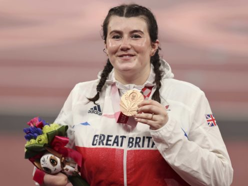 Hollie Arnold with her bronze medal in Tokyo (imagecommsralympicsGB/PA)