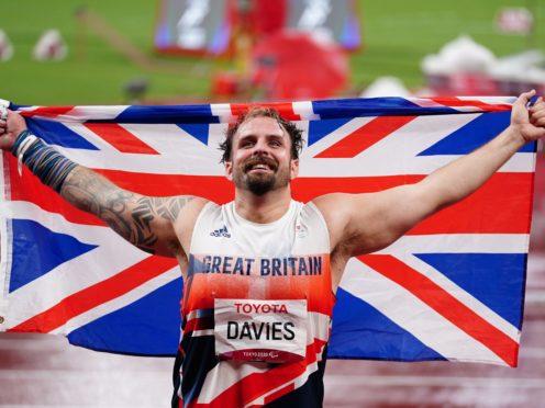 Aled Davies won his third Paralympic gold medal (John Walton/PA)