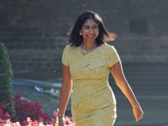 Suella Braverman has attended her first Cabinet meeting in six months after taking maternity leave (Stefan Rousseau/PA)