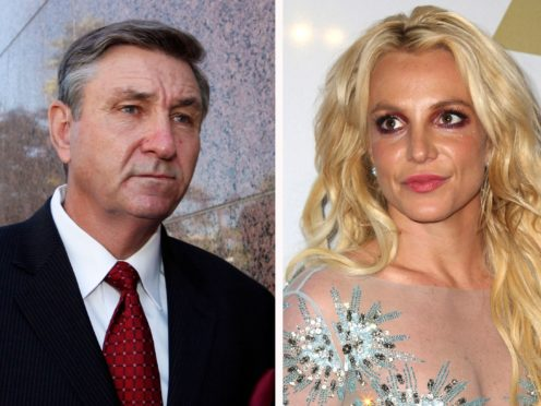 Jamie Spears, left, father of Britney Spears, has overseen his daughter's estate for 13 years but that could soon be coming to an end (AP Photo/File)