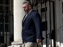 James Hollett leaves Lewes Crown Court (Bronwen Weatherby/PA)