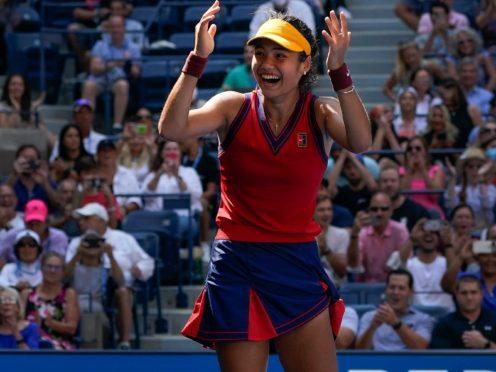 Emma Raducanu has made history in New York (AP Photo/Elise Amendola)