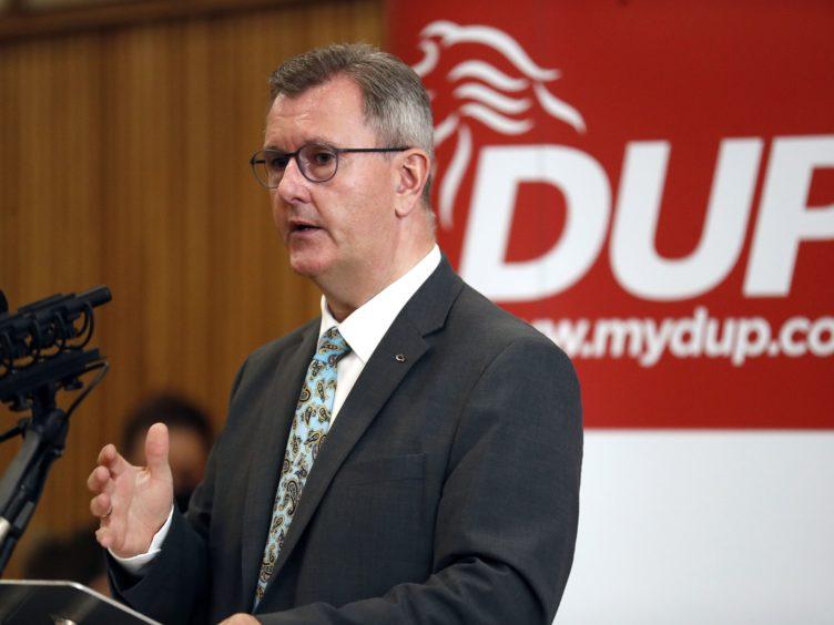 Democratic Unionist Party leader Jeffrey Donaldson (Peter Morrison/PA)