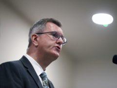 Democratic Unionist Party leader Sir Jeffrey Donaldson (Peter Morrison/PA)