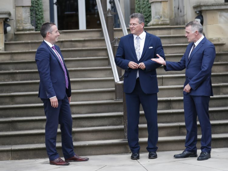 European Commission vice-president Maros Sefcovic during a visit to Northern Ireland (Peter Morrison/PA)