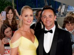 Ant McPartlin and Anne-Marie Corbett attending the National Television Awards 2021 (Ian West/PA)