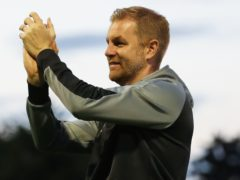Simon Weaver applauds during his side's draw with Newport (Isaac Parkin/PA)