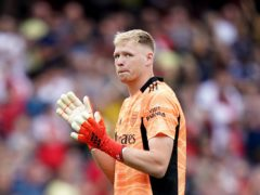 Aaron Ramsdale kept a clean sheet during Arsenal's win (Tess Derry/PA)