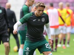 Scott Allan made his first domestic start for Hibs in more than a year (Jeff Holmes/PA)