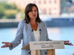 Socialist mayor of Paris Anne Hidalgo announces her candidacy (Michel Euler/AP)