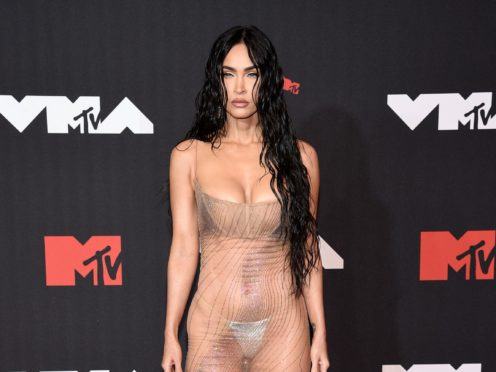 Megan Fox was among the stars walking the red carpet for the MTV VMAs (Evan Agostini/Invision/AP)