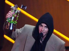 Justin Bieber was among the winners at the MTV Video Music Awards (Charles Sykes/Invision/AP)