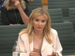 Former Love Island contest Amy Hart speaking at the inquiry (House of Commons/PA)