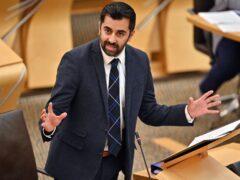 Heath Secretary Humza Yousaf highlighted record staffing numbers (Jeff J Mitchell/PA)