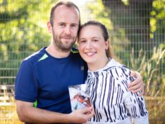 Claire Nash and Wayne Flanagan are running the London Marathon in memory of their daughter Jade (Family handout/PA)