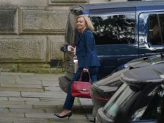 Liz Truss, the new Foreign Secretary, arrives at the Foreign Office (Stefan Rousseau/PA)