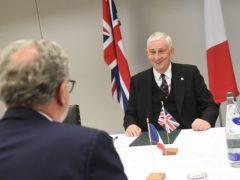Sir Lindsay Hoyle holding a bilateral meeting at Astley Hall (UK Parliament/Jessica Taylor)