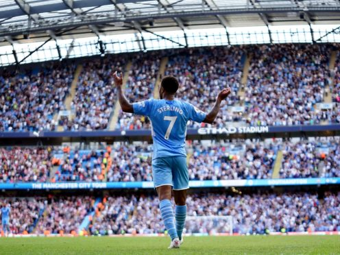 Raheem Sterling thought he had won it late on for City (Zac Goodwin/PA)