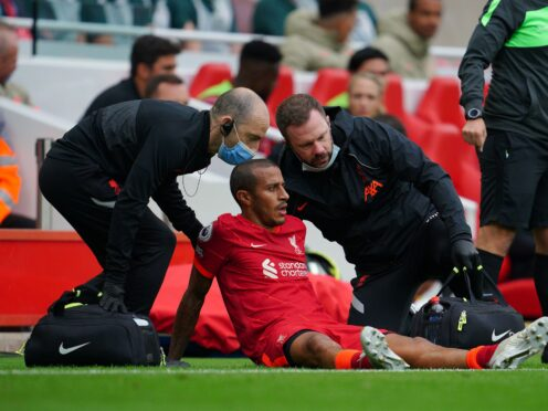 Thiago Alcantara could be out until after next month's international break (Peter Byrne/PA)