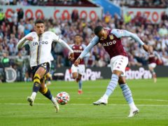 Aston Villa's Leon Bailey added a quickfire third for the hosts (Tim Goode/PA)