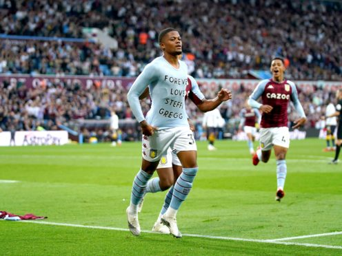 Aston Villa's Leon Bailey scored his first goal for the club against Everton. (Tim Goode/PA)