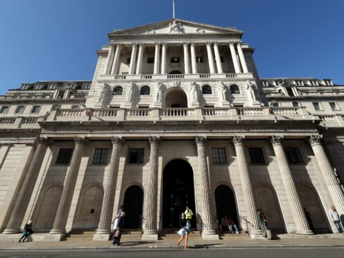 The Bank of England has left interest rates unchanged at 0.1% (Yui Mok/PA)