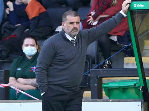 Celtic manager Ange Postecoglou is eyeing a victory over Raith Rovers (Andrew Milligan/PA)