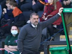 Ange Postecoglou suffered his third defeat in six league games as Celtic boss (Andrew Milligan/PA)