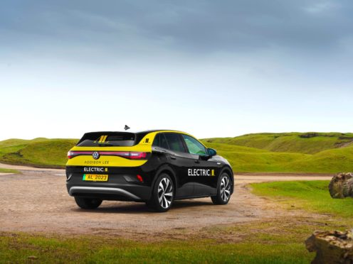 One of the Volkswagen ID.4 vehicles, which Addison Lee hope to introduce into their fleet from November (Addison Lee/PA)