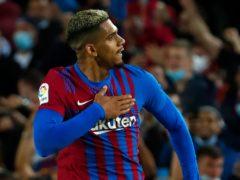 Barcelona's Ronald Araujo scored a last-gasp equaliser against Granada (Joan Monfort/AP/PA)