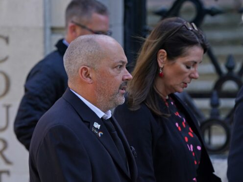 Stuart and Amanda Stephens outside Reading Crown Court (Steve Parsons/PA)
