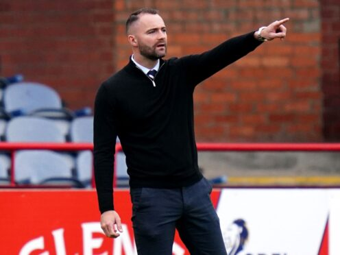 Dundee manager James McPake was shown a red card at full-time. (Jane Barlow/PA)