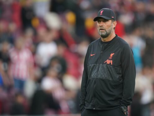 Liverpool manager Jurgen Klopp insists there is no cause for concern after conceding three goals against Brentford at the weekend (Adam Davy/PA)