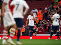 Tottenham's demise continued with a 3-1 defeat to Arsenal on Sunday (Nick Potts/PA)