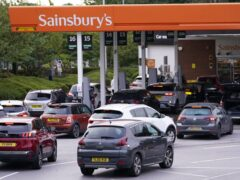 Queues at a petrol station in Colton, Leeds (Danny Lawson/PA)