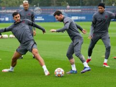 Lionel Messi, centre, is fit to face Manchester City (Michel Euler/AP)