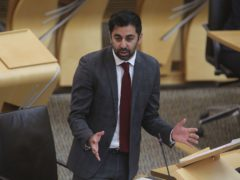 Health Secretary Humza Yousaf talked down the prospect of field hospitals being established to help the NHS – but did not rule it out entirely. (Fraser Bremner/Scottish Daily Mail/PA)